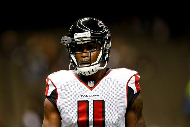 Julio jones is almost done with insane football gladiator for Atlanta falcons tattoo