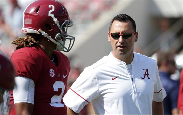 Steve Sarkisian Tries To Save Face With Nick Saban Tweet